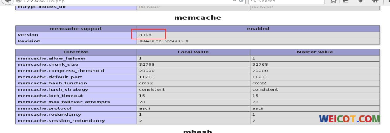 CentOS 7* PHP memcache 和 memcached 扩展 以及其他扩展