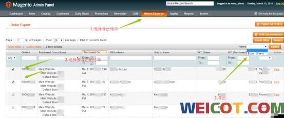 Magento 1x 订单批量导出,批量导入物流单号,自动快递查询,批量发货 WeiCot Tools集成插件