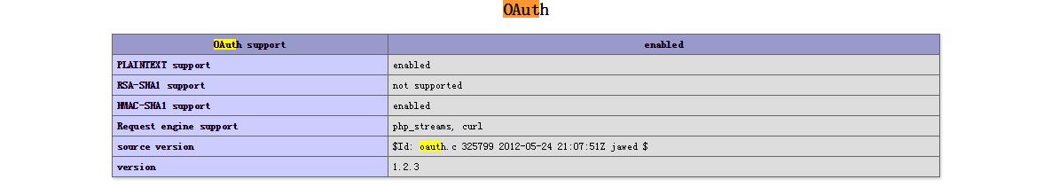 PHP 安装 Oauth 扩展